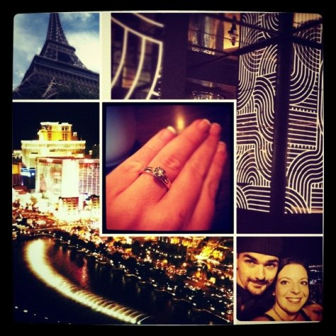 vegas engagement collage