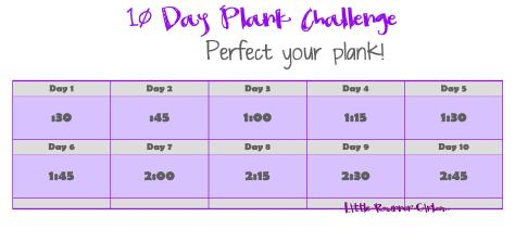 10 Day Plank Challenge