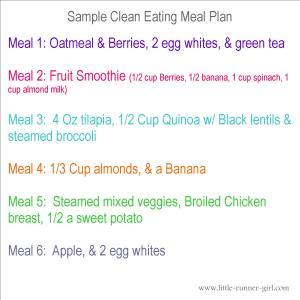 sample clean eating meal plan