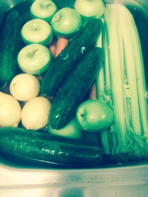 Washing veggies and fruits