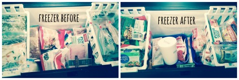freezer before after