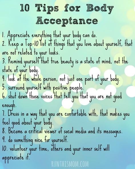 10 Tips for body acceptance
