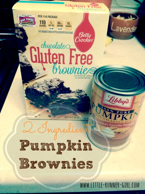 2 Ingredient Pumpkin Brownies
