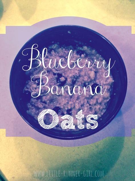 Blueberry banana oats