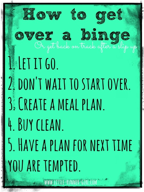 how to get over a binge