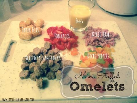 mini stuffed omelets