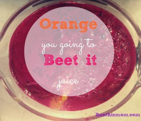 orange beet juice